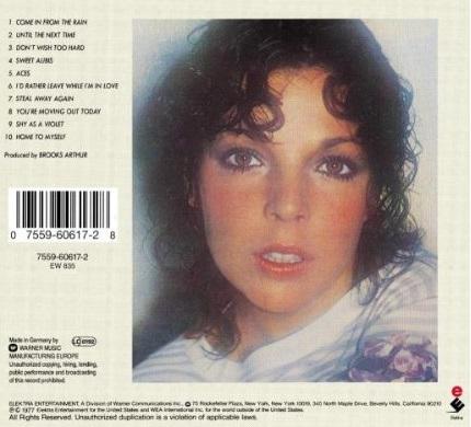 Carole Bayer Sager / Carole Bayer Sager (1977年) バック・カヴァー